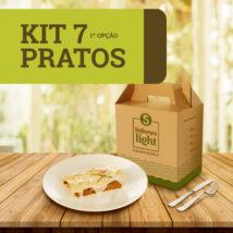Kit 7 Pratos - 1ª Opção