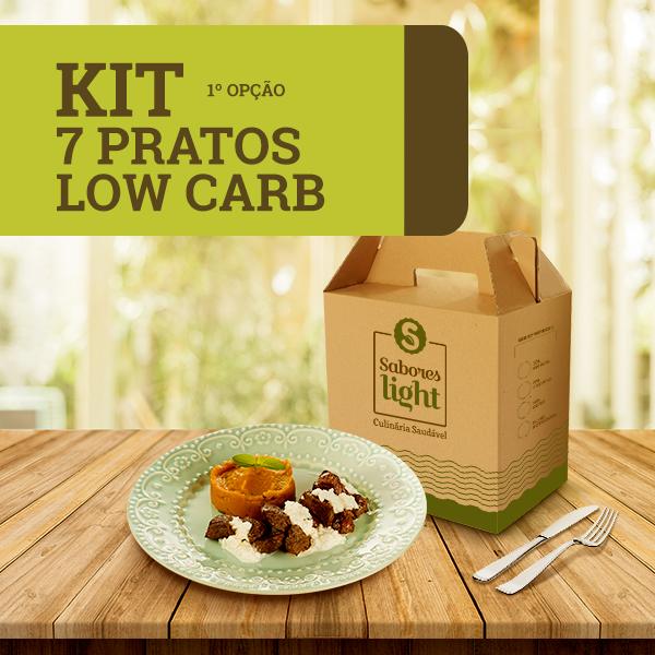 6960B - Kit 7 pratos Lowcarb 1 opção