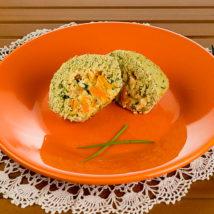 Empadinha de cenoura e gorgonzola