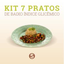 Kit 7 pratos de baixo índice glicêmico