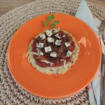 Pizza de cebola e gorgonzola