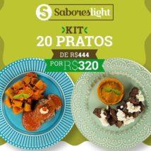 Promoção da Semana - Kit 20 pratos